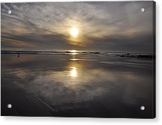 Black Sunset Acrylic Print by Gandz Photography
