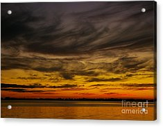Black Sunset Acrylic Print by Tannis  Baldwin