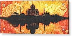 Black Taj Mahal Acrylic Print by Mo T