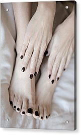 Black Tips Acrylic Print by Tos