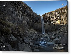 Black Waterfall Acrylic Print