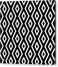 Black And White Pattern Acrylic Print by Christina Rollo