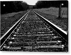 Black White Tracks Acrylic Print