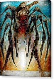 Black Widow Zombie Acrylic Print