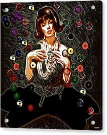 Black Wig Mm Acrylic Print by Daniel Janda