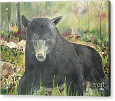 Acrylic Print featuring the painting Blackberry Scruffy 2 by Jan Dappen