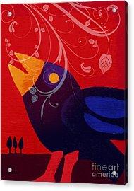 Blackbird Acrylic Print by Lutz Baar