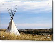 Acrylic Print featuring the photograph Blackfoot Teepee by Alyce Taylor