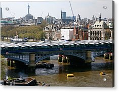 Blackfriars Bridge Acrylic Print by Victor De Schwanberg