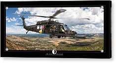 Blackhawk Helicopter Acrylic Print by Larry McManus