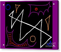 Blacklight Acrylic Print by Meenal C