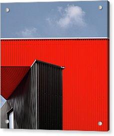 Black/red. Acrylic Print