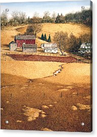 Acrylic Print featuring the painting Blackshear Hollow by Tom Wooldridge