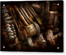 Blacksmith - The Art Of Pounding  Acrylic Print by Mike Savad