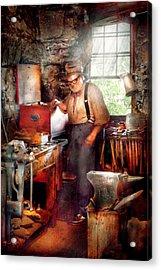 Blacksmith - The Smithy  Acrylic Print by Mike Savad