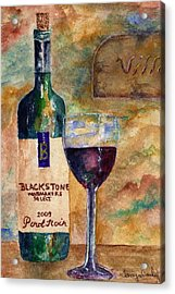 Acrylic Print featuring the painting Blackstone Wine by Tamyra Crossley