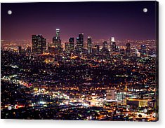 Los Angeles Skyline Acrylic Print by Alexis Birkill