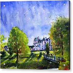 Blair Castle Bridge Scotland Acrylic Print by John D Benson