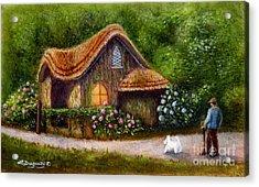 Blaise Rustic Cottage Acrylic Print