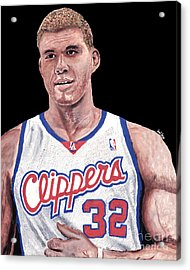 Blake Griffin Acrylic Print by Israel Torres