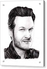 Blake Shelton Acrylic Print by Rosalinda Markle