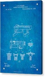 Blake Stone Crushing Patent 1858 Blueprint Acrylic Print by Ian Monk