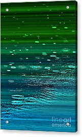 Blame It On The Rain Acrylic Print by Cynthia Lagoudakis