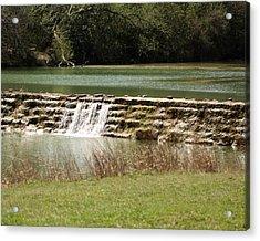 Blanco River Weir Acrylic Print