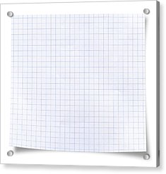 Blank Square Rules Lined Paper Acrylic Print by Tolga TEZCAN