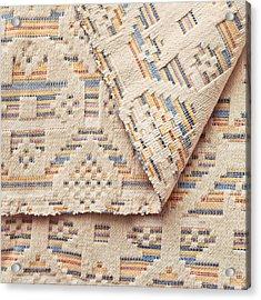 Blanket Detail Acrylic Print by Tom Gowanlock