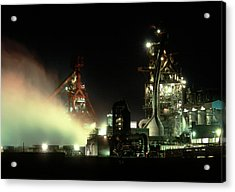 Blast Furnace At A Steelworks Acrylic Print