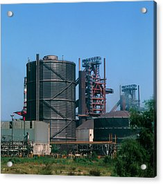 Blast Furnaces & Water Storage Tower Acrylic Print