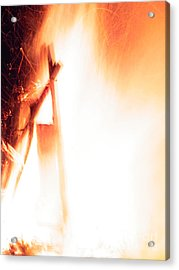 Blazing Flames  Acrylic Print