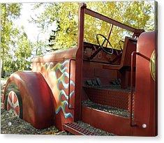 Blazing Red Fire Truck Acrylic Print
