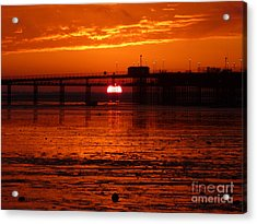 Acrylic Print featuring the photograph Blazing Sunset by Vicki Spindler