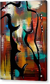 Blender - Original Abstract Art By Fidostudio Acrylic Print by Tom Fedro - Fidostudio