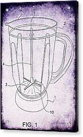 Blender Patent Acrylic Print by Edward Fielding