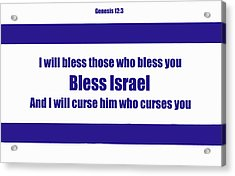 Bless Israel Poster Acrylic Print