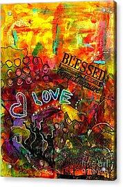Blessed Beyond Measure Acrylic Print by Angela L Walker