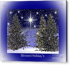 Blessed Holidays Acrylic Print by Eva Thomas