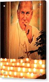Acrylic Print featuring the photograph Saint John Paul II by Theresa Ramos-DuVon