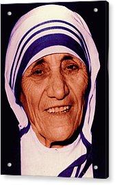 Blessed Teresa Of Calcutta Acrylic Print by Li   van Saathoff