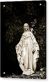 Blessed Virgin Mary Acrylic Print by Olivier Le Queinec