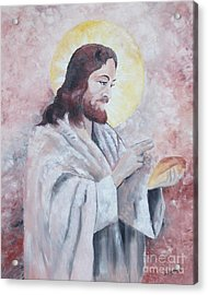 Blessing Of The Bread Acrylic Print by Jim Janeway