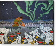 Acrylic Print featuring the painting Blessing Of The Polar Bears by Chholing Taha