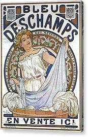 Bleu Deschamps Acrylic Print by Georgia Fowler