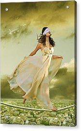 Blind Faith Acrylic Print by Linda Lees