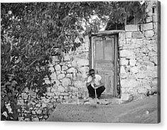 Blind Man And His House Acrylic Print by Ilker Goksen
