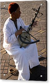 Blind Man Place Djemna Al Fna Marrakesh Morocco Acrylic Print by PIXELS  XPOSED Ralph A Ledergerber Photography