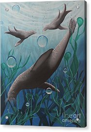 Acrylic Print featuring the painting Bliss by Dianna Lewis